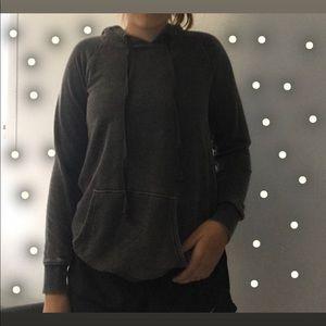 dark grey hoodie